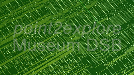 Digital Signage Green Circuit Board Background